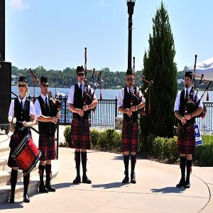 Ormond Beach Celtic Festival Bagpipes Along Halifax