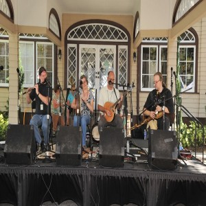 On stage at the Ormond Beach Celtic Festival