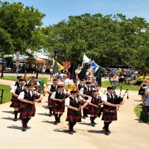 Marching at Ormond Beach Celtic Festival