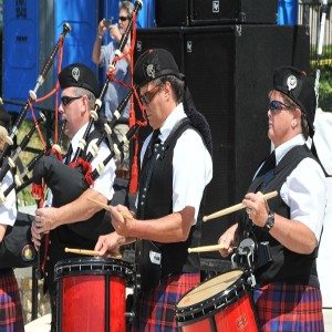 Playing Bagpipes at the Ormond Beach Celtic Festival