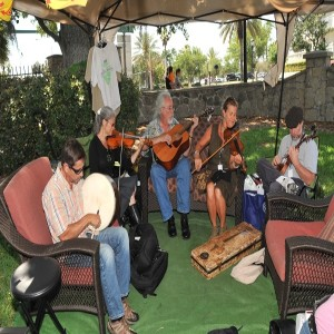 A band plays at the Ormond Beach Celtic Festival