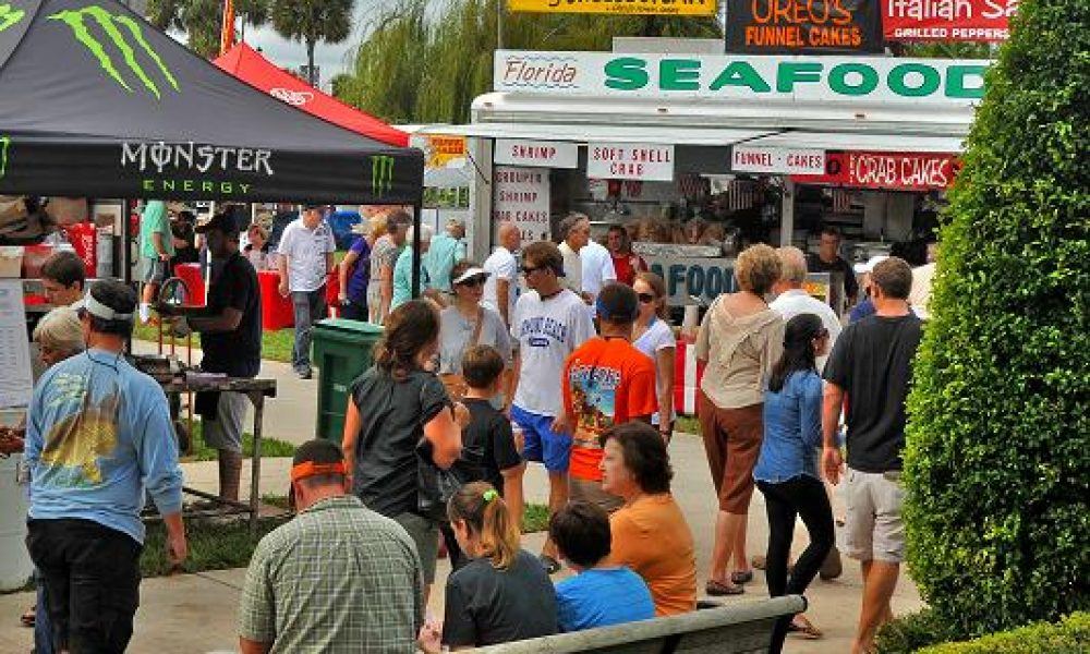 Riverfest food tents